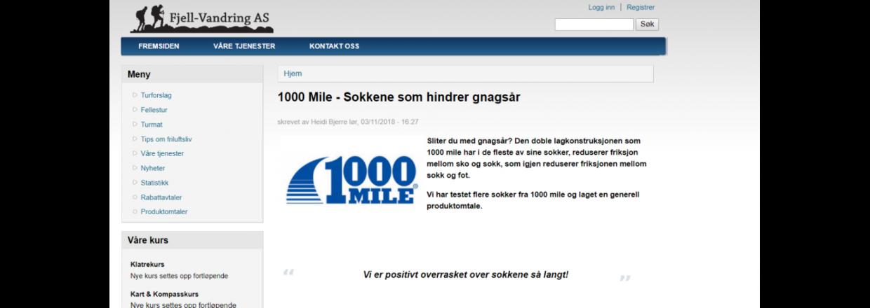 FJELL-VANDRING - TESTER 1000 MILE SOKKER