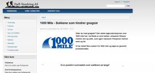 FJELLVANDRING - TESTER 1000 MILE SOKKER