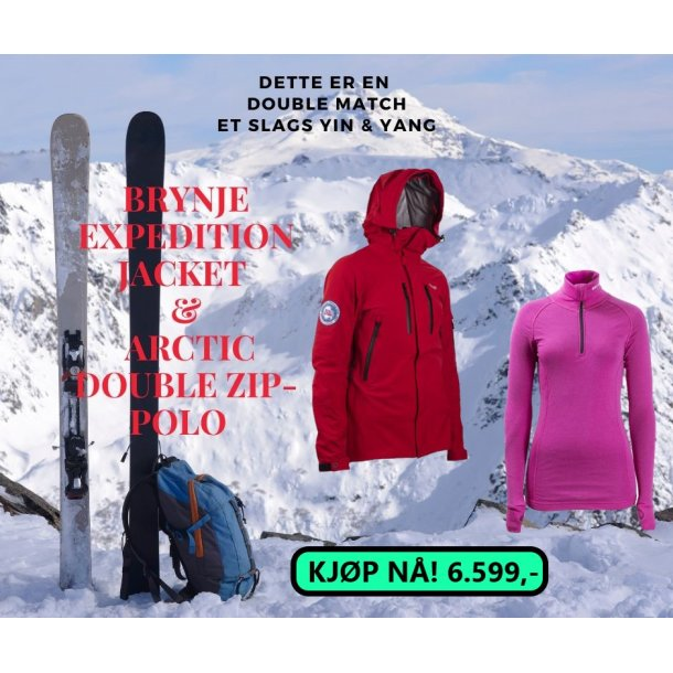 BRYNJE EXPEDITION JACKET & ARCTIC DOUBLE Zip-Polo