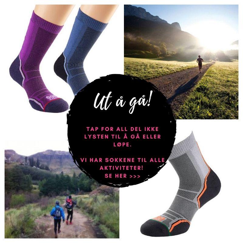 Ut å gå eller løpe - Nye TREK og TRAIL sokker.