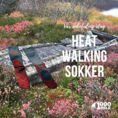 1000 MILE HEAT WALK  SOCK - Gir varme i føttene.