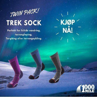 1000 Mile TREK Sock Twin Pack